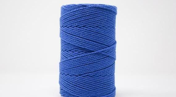 Macrame 5 mm 3PLY MAKRAMEE-SCHNUR 5 MM Yarn charcoal