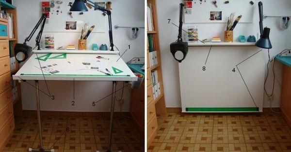 Mesa de dibujo estudio plegable escritorios minimos - Mesa estudio plegable ...