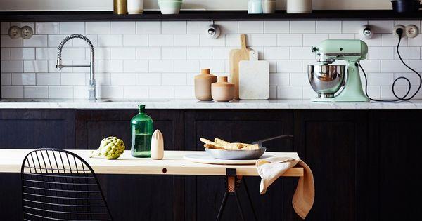 zwarte-keukenkastjes  Keuken  Pinterest