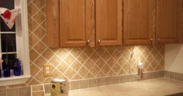 diy painted backsplash kitchen redo ideas pinterest