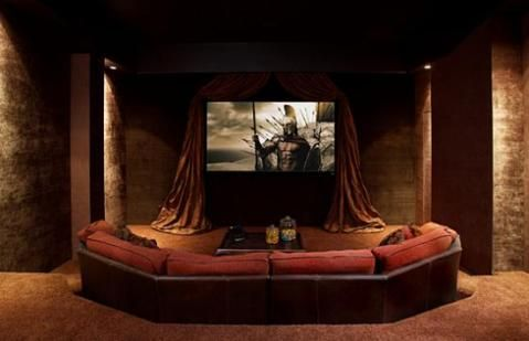 home theater ideas this one is warm and romantic