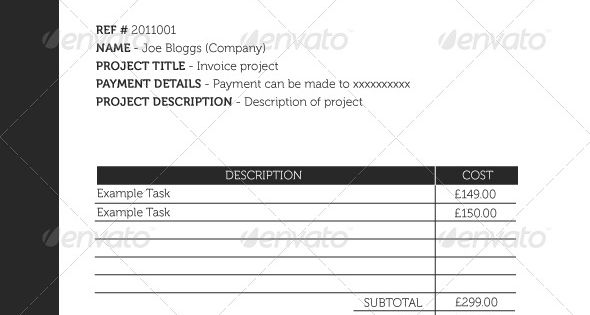 Simple A4 Invoice Graphics, Hope and Invoice template - what is invoice