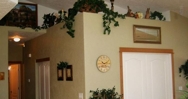 Shows Vaulted Ceilings In Living Area With Plant Shelves