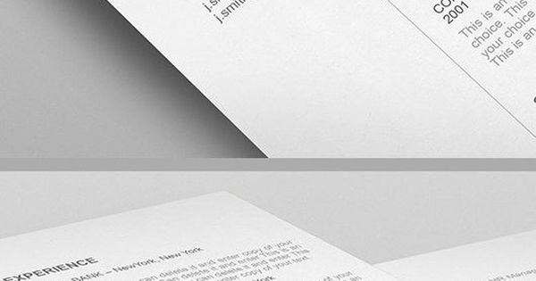 Elegant Resume Template - 110540 - Premium line of Resume Cover - easy resumes