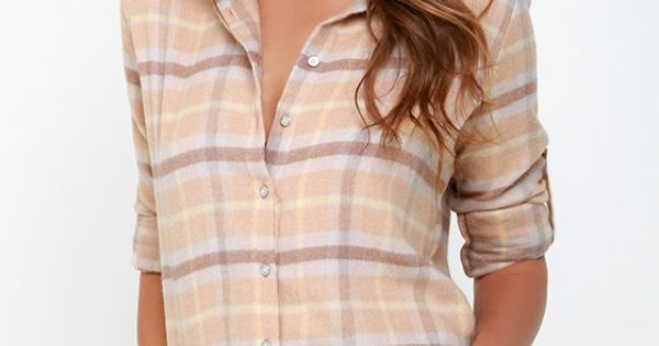 White Crow Harvest Moon Beige Flannel Top See More Best