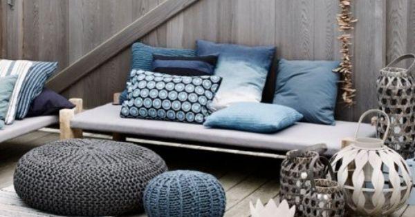 broste copenhagen groes sitzkissen bodenkissen strick pouf. Black Bedroom Furniture Sets. Home Design Ideas