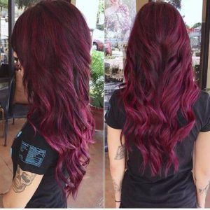 Burgundy Hair 50 Vivid Hues Shades You Ll Just Love Wearing This Fall Magenta Hair Plum Burgundy Hair Deep Burgundy Hair