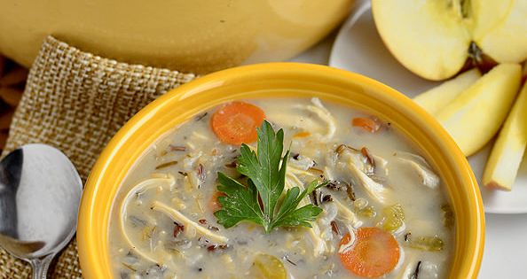 Chicken Wild Rice Soup via @Ann Brincks Girl Eats