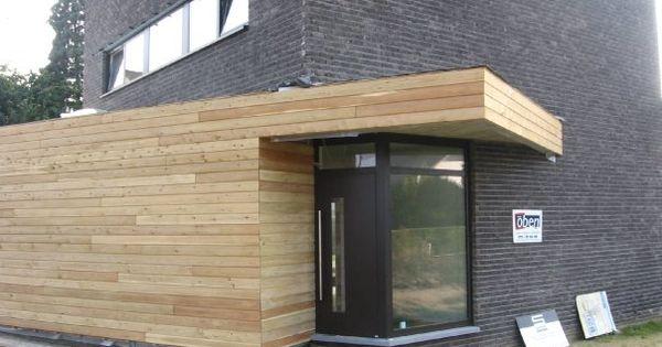 Houten gevelbekleding uitbouw pinterest - Architectuur staal corten ...