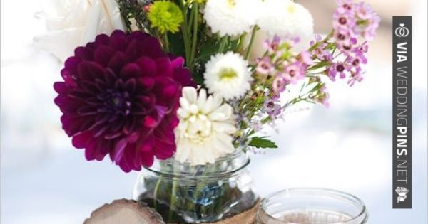 rustic wedding decorations, great for centerpiece and table number