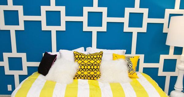 Britany's Geometric Wall Treatment in Design Star How-Tos: Clever DIY Projects Inspired