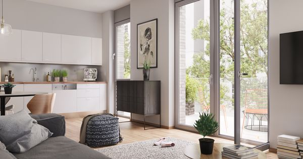 bodentiefe fenster l sen die grenze zwischen au en und. Black Bedroom Furniture Sets. Home Design Ideas
