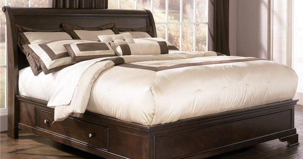 Leighton King Platform Bed With Underbed Storage By Ashley Millennium Bedroom Pinterest