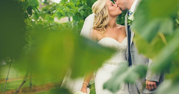 Adorable winery wedding photo