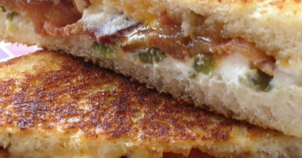 Sounds good minus the bacon! Jalapeno Popper Grilled Cheese. Mix cream cheese,