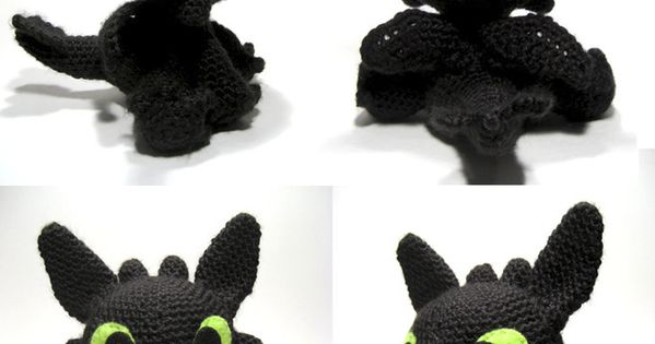 Amigurumi How To Train Your Dragon : Patron para hacer a Desdentado // Free crochet Toothless ...