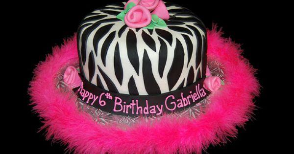 صور لقوالب أعياد ميلاد البنات 6th Birthday Cakes Zebra Birthday Cakes Pink Zebra Birthday