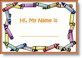 Editable Printable Abc Border Name Tags