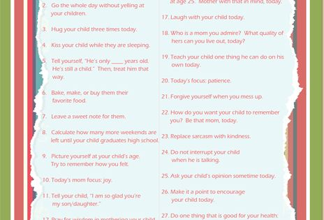 Awesome Mommy things to do...