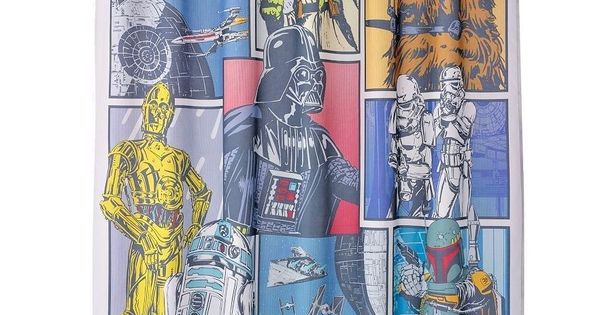 Star Wars Trilogy Graphic Book Classic Collection Fabric Shower