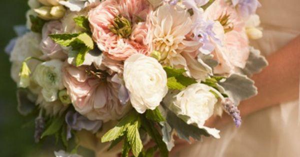 Rustic bouquet - Ranunculus, dahlia and garden rose bouquet
