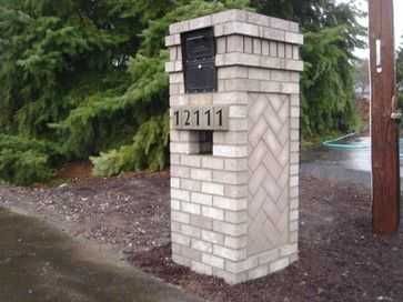 Brick Mailbox Design Ideas Pictures Remodel And Decor Brick Mailbox Mailbox Design Mailbox Landscaping