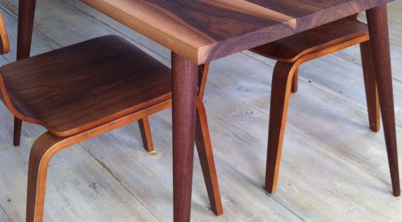 Walnut dining table mid century modern featuring by scottcassin