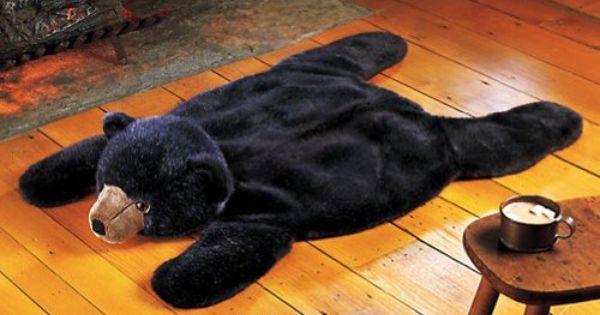 Black Bear Woodland Plush Animal Rug Collections Etc Http