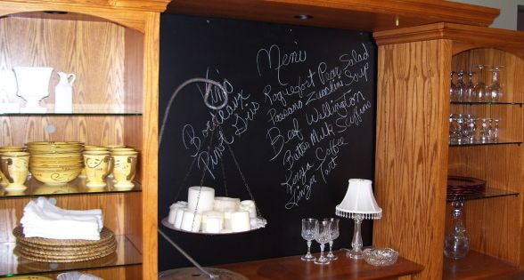 repurposed for a menu in the dining room i love this idea With what kind of paint to use on kitchen cabinets for african candle holder