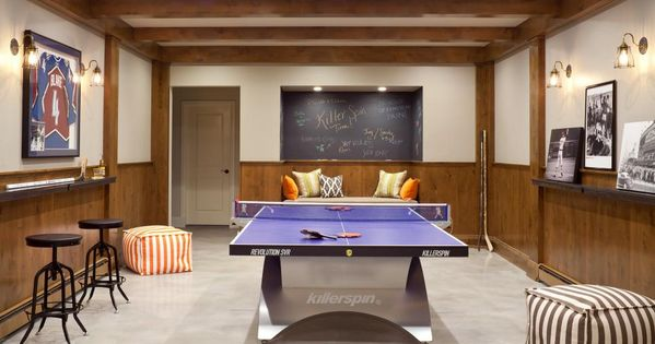 A Family Game Room Gets A Sophisticated Update With