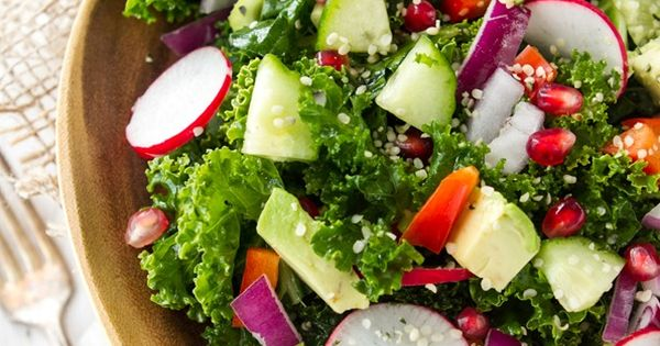My Go-To, Easy Kale Salad. Perfect for lunch! #recipes # ...