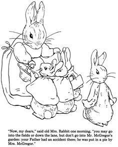 The Tale Of Peter Rabbit Coloring Book Dover Publications Rabbit Colors Coloring Books Peter Rabbit And Friends