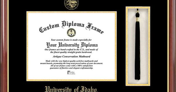 University Of Idaho Diploma Frame Embossed Seal Tassel