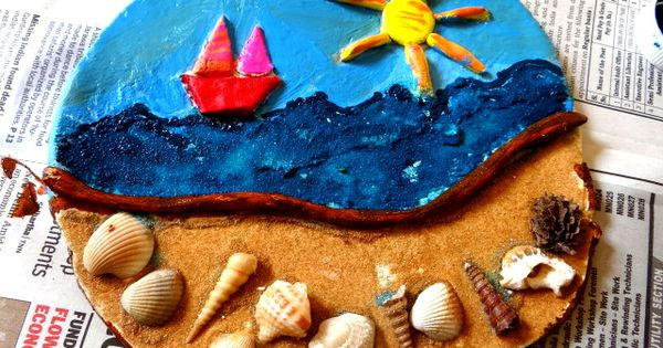 Beach craft craft with shells collected from the beach for Comment s occuper d un palmier