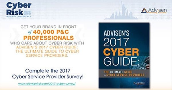 Take The 2017 Cyber Provider Guide Survey To Be Included In The Cyber Guide For Free Commercial Insurance Surveys Underwriting