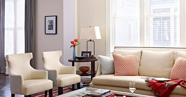 Small space solutions for every room best neutral color for Neutral tone living room ideas