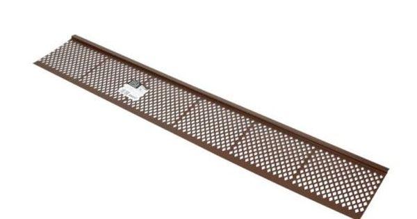 Amerimax Gutter Guard 6 W X 36 L Plastic Brown Case Of 50 Home Garden Improvement 85479 Gutter Guard Vinyl Gutter Gutter Sizes