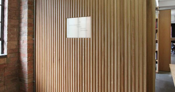 Floor To Ceiling Oak Veneer Room Dividers With Partition