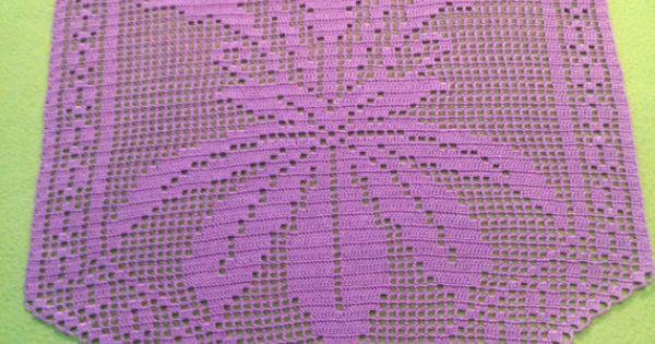 Filet Crochet Baby Bib Patterns : Filet Crochet Violet Doily Flower by Natzku on Etsy, USD52 ...