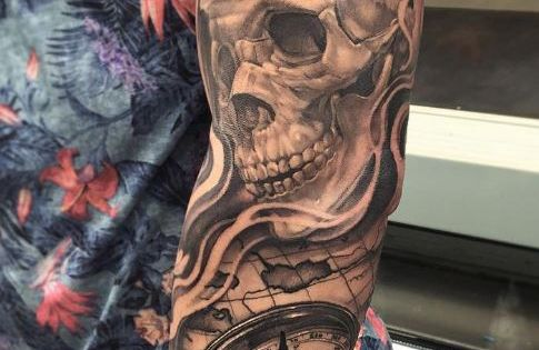 Skeleton king tattoo tatueringar for Skeleton king tattoo