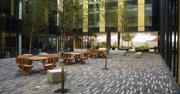 Good use of linear pavers but the strong sense of for Courtyard landscaping ottawa