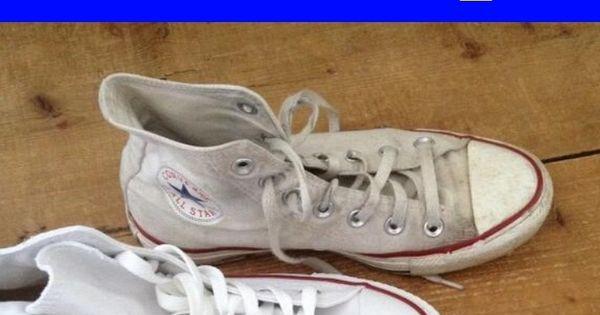 Jedna Z Najwiekszych Tajemnic W Domu Jest To Jak Wyczyscic Biale Trampki Przydatne I Praktyczne Poniewaz Biale Buty Czesto Tyl Sneakers Tretorn Sneaker Shoes