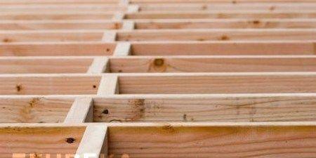 How To Build A Wooden Joist Floor Building A Deck Frame Wood Floors Flooring