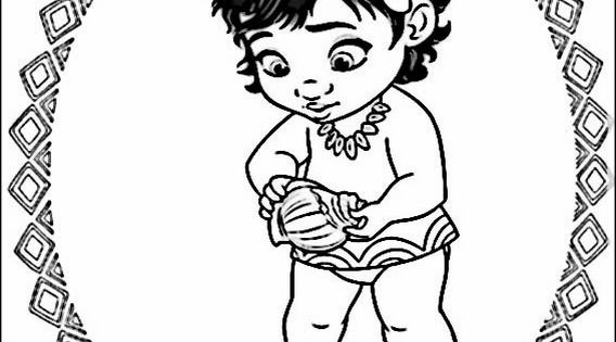 Vaiana Moana Coloring Pages 9