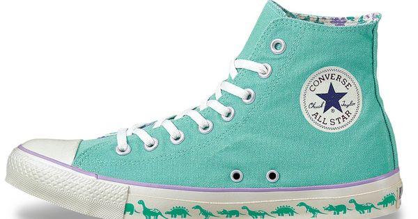 Teal dinosaur converse | Converse, Diy