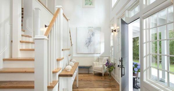 Witte trap met licht houten treden interieur trappen staircases pinterest stairways - Interieur houten trap ...