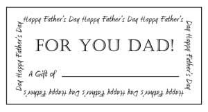 Fathers Day Gift Certificates Massage Gift Certificate Massage Gift Gift Certificate Template