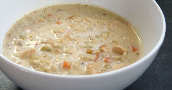 The Chocolate Biscuit S Chicken And Rice Soup Creamy Chicken And Rice Creamy Chicken Rice Soup