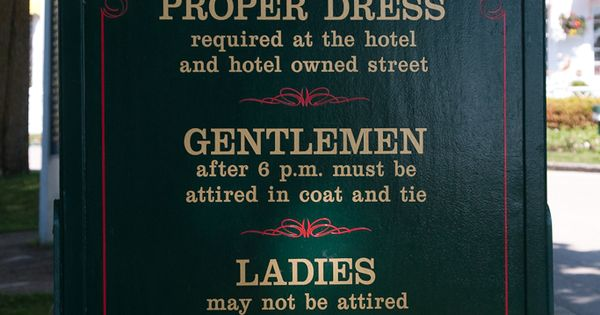 Grand Hotel Dress Code Mackinac Island Michigan