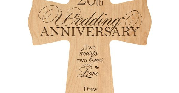 Personalized 20th Wedding Anniversary 20th Anniversary Wall Cross20 Year Wedding Anniversary